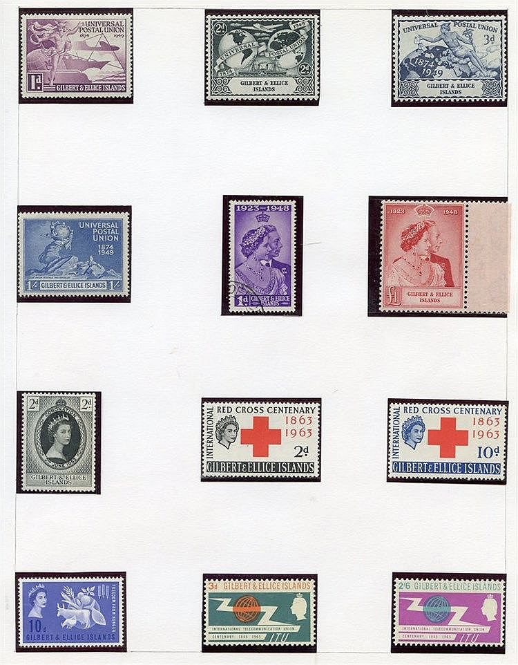 Collection on leaves with 1935 Jubilee FU, 1939 to 5s M, 1948 Wed