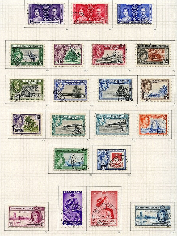 1937-55 collection U on philatelic leaves with Defin set plus per