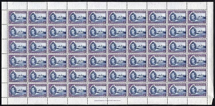 1938 KGVI Defin set in complete UM sheets of 60 (SG.120/132), the