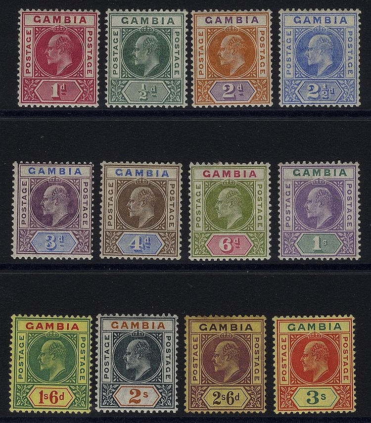 1902-05 CCA set, M (2/6d heavy tone patch), SG.45/56. (12) Cat. £