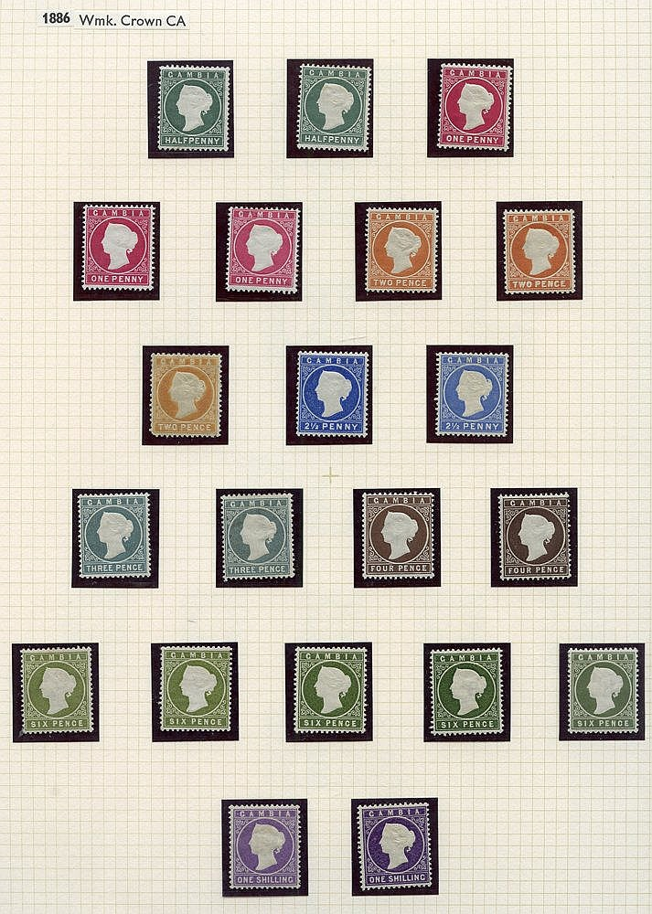 1886-93 CCA ½d (7) - five U, 1d (10) - seven U, 1d (12) - nine U,