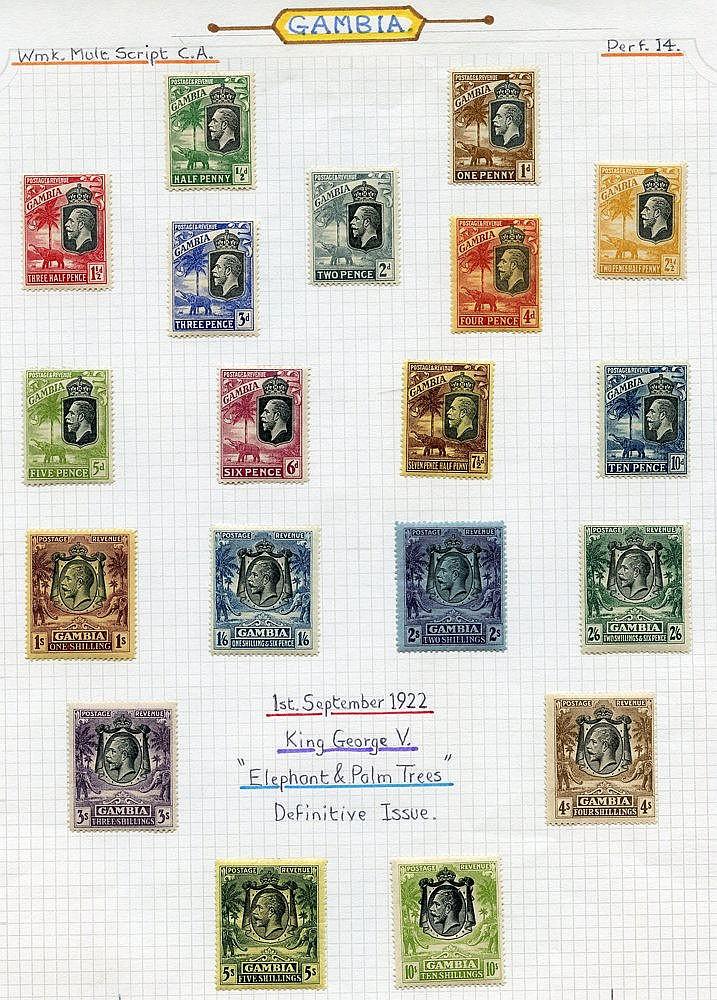 1922-29 MCCA & MSCA set, fine M, SG.118/142. (19) Cat. £273