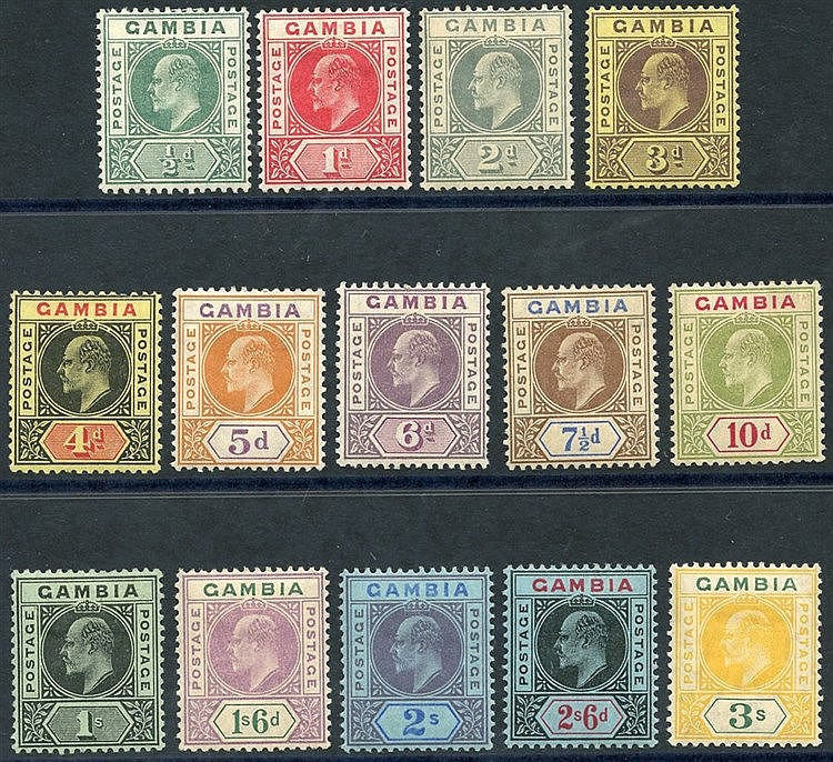 1909 Colours Changed MCCA set M, SG.72/85 (14) Cat. £150