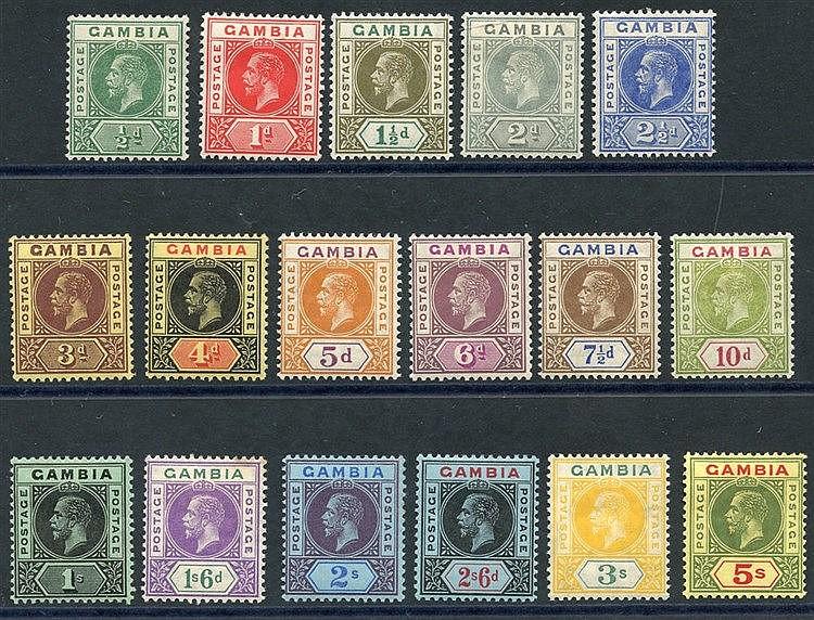 1912-22 MCCA set, fine M, SG.86/102 (17) Cat. £190
