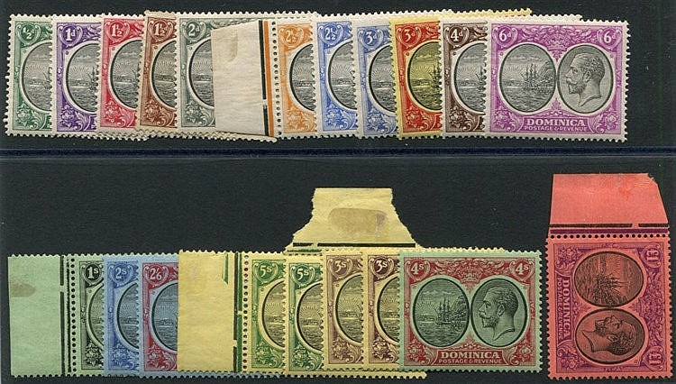 1923-35 MSCA set (1½d is unused) o/w fine M, SG.71/91. (21) Cat.
