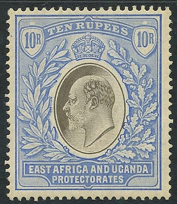 1904-07 MCCA 10r grey & ultramarine, fine M, SG.31. Cat. £350