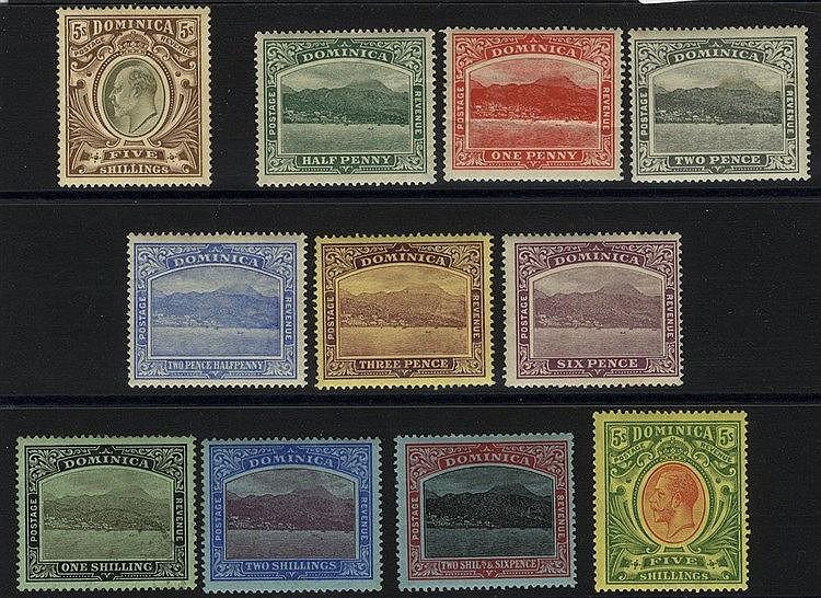 1903-07 MCCA 5s M, SG.36, 1908-20 MCCA set M (1d crease, 2d tones