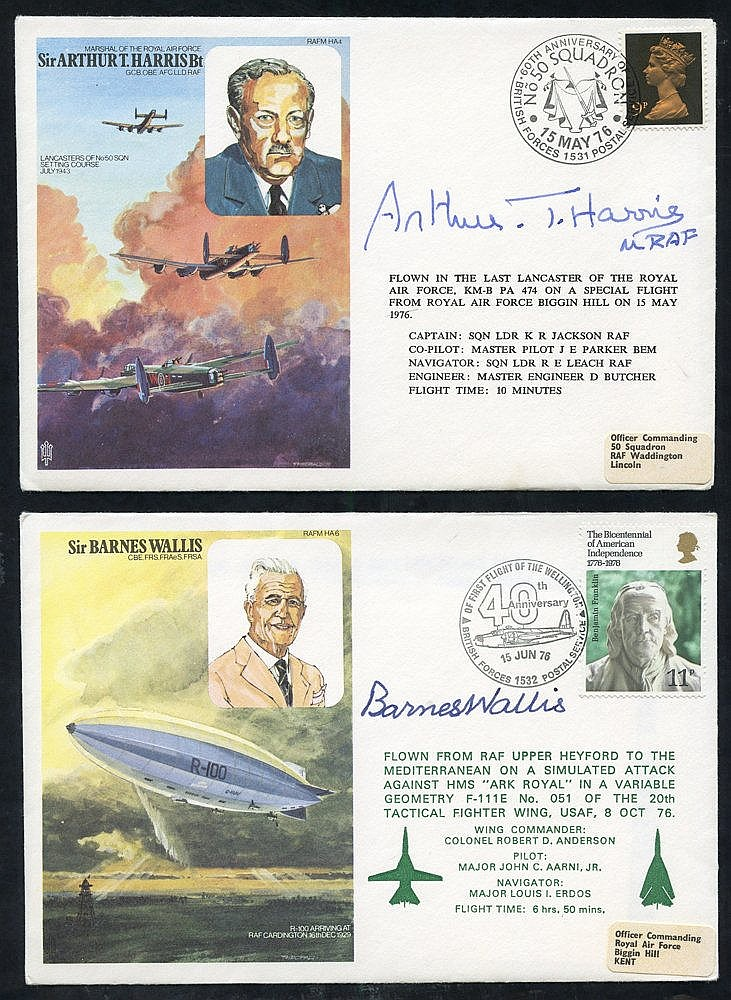 SIGNED COVERS (9 different) commemorative covers of mainly wartim