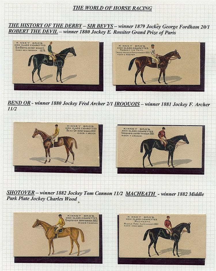 HORSE RACING three very scarce sets comprising 1889 Kinney Bros.