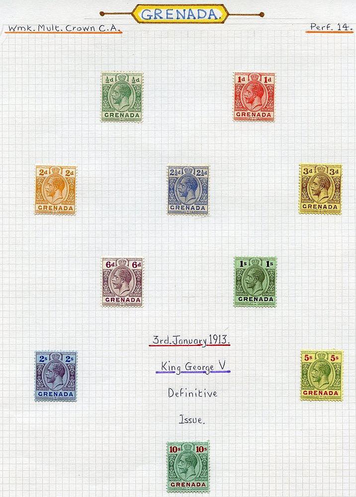 1913-22 MCCA set M, SG.89/101, 1921-32 MSCA set M, SG.112/9, 1934