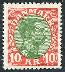 1928 10k green & vermilion, UM (minor wrinkle), SG.172. (1) Cat.