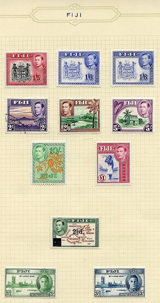 1935-67 fine M collection on leaves incl. 1935 Jubilee set, 1938