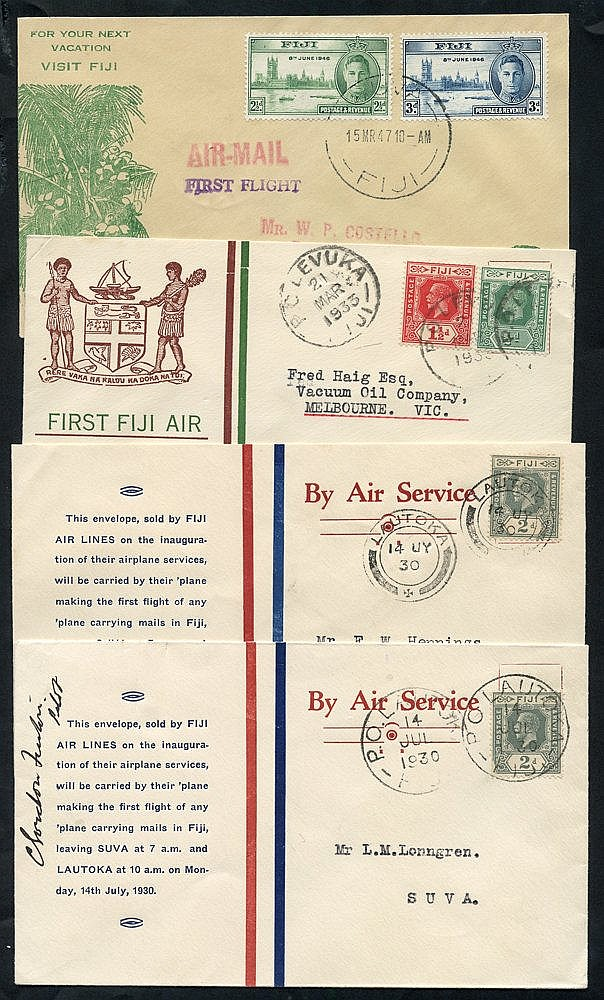 1930-47 first flight covers (4) 1930 Fiji Airlines official cover