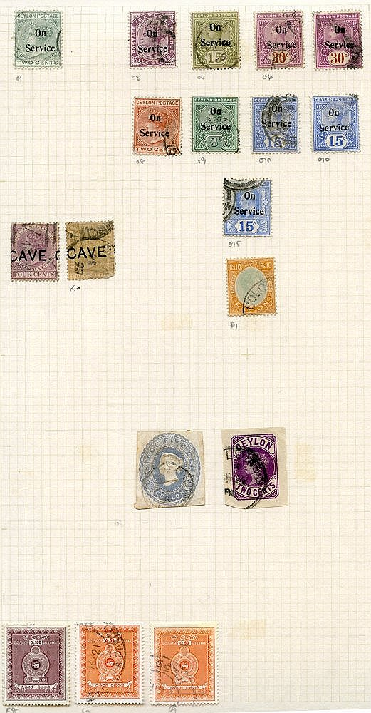 Extensive lot on leaves from Imperf Chalon 1d, 2d, 6d (2), 1s, Pe