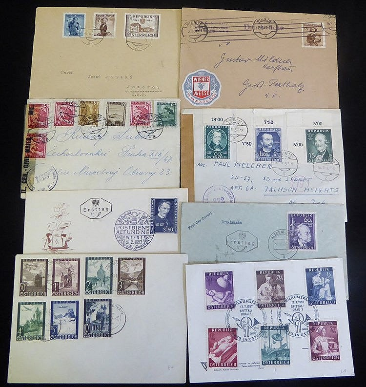Second Republic to 1955 interesting range incl. censored, airmail