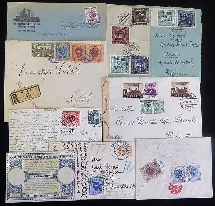 1920's-30's covers & cards incl. several with Czech dues, interes