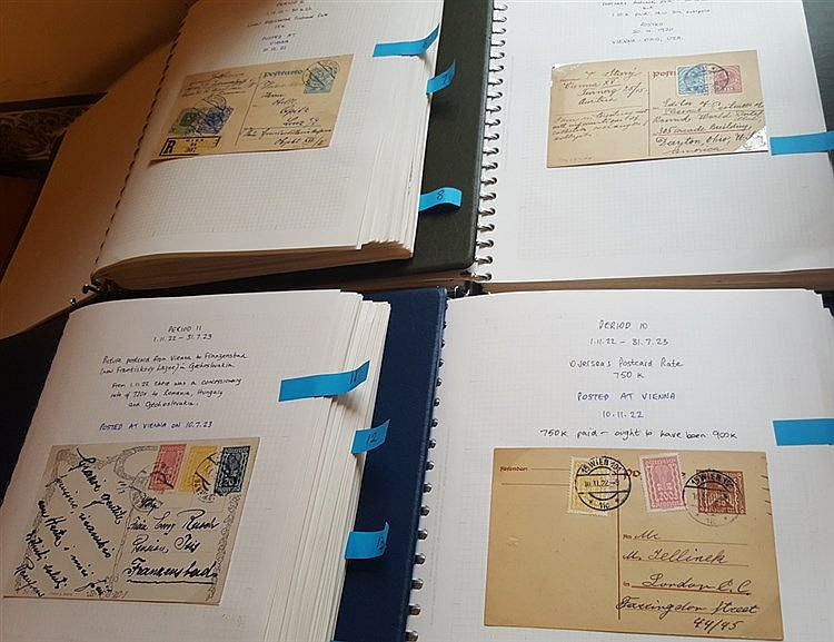 1918-23 collection of inflation mail covering all 14 periods neat