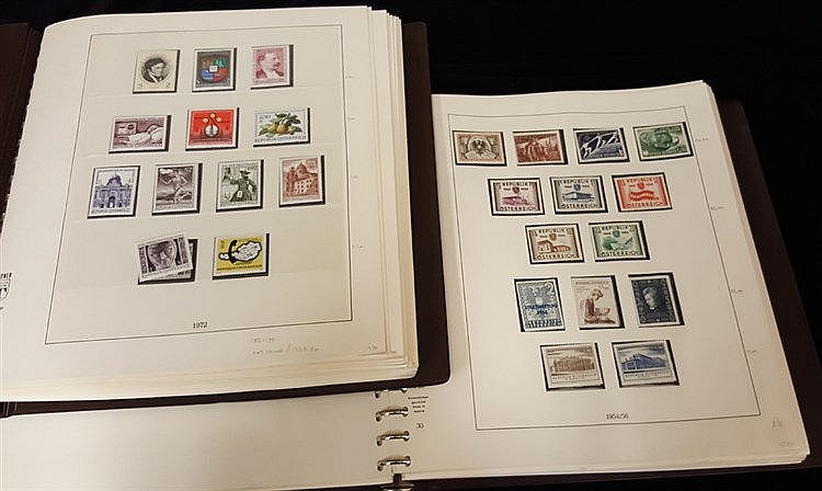 1945-71 fine UM collection housed in two Lindner hingeless albums