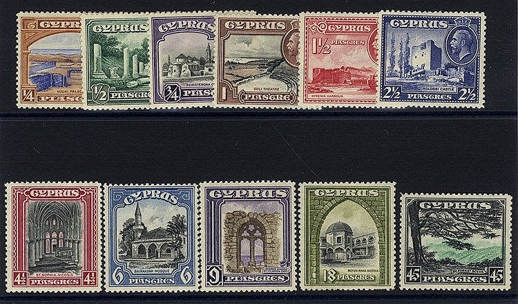1934 Pictorial Defin set, M (18pi has some pulled perfs at base),