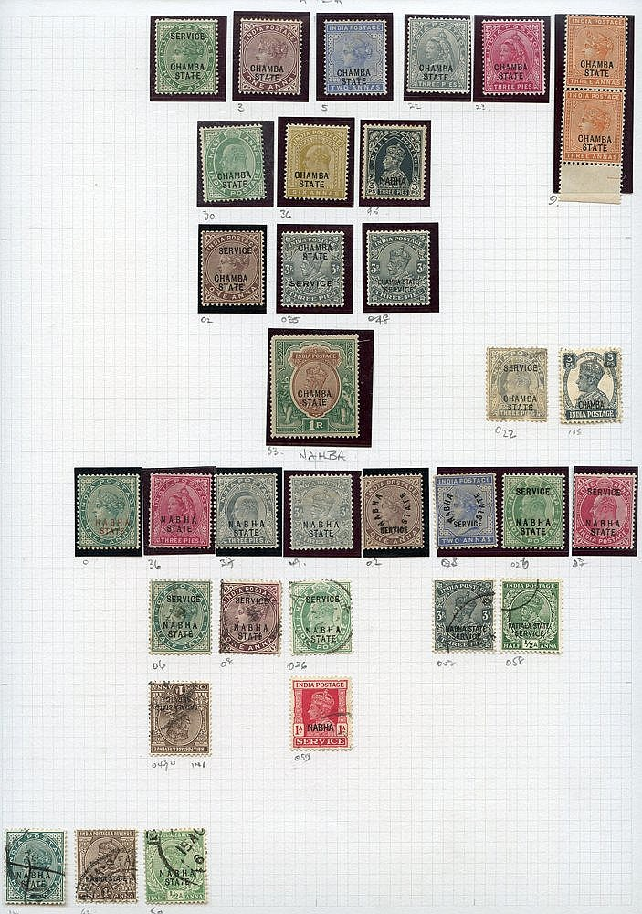 Collection on leaves with some Convention overprints but main val