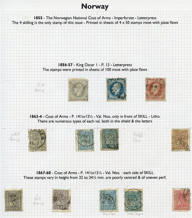 SCANDINAVIA collection of M & U ranges incl. a few covers housed