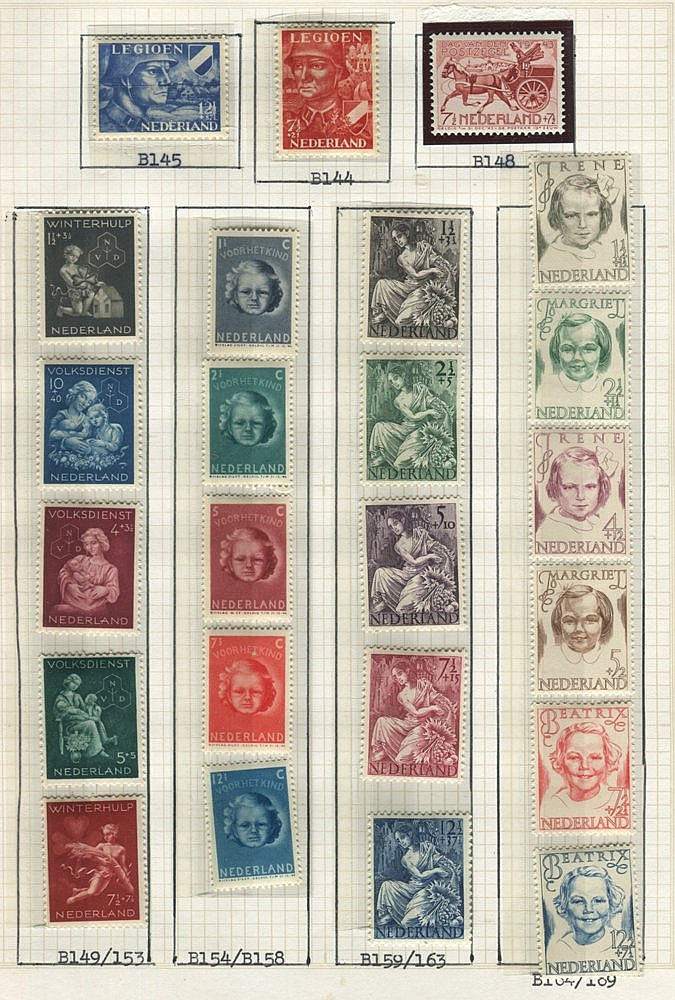 BENELUX collections housed in two albums with Belgium 1914-60's M
