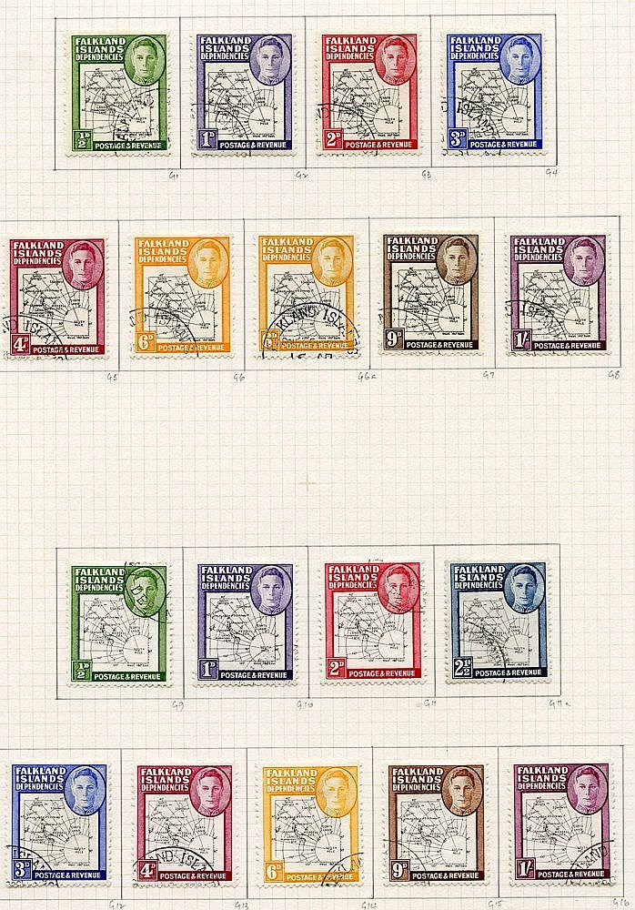 1944-49 collection U on philatelic leaves with all basic stamps p