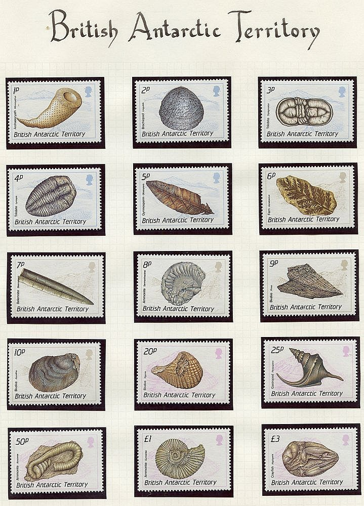 Collection on leaves with Falklands 1977-95 UM (338 + 12 m/s), F.