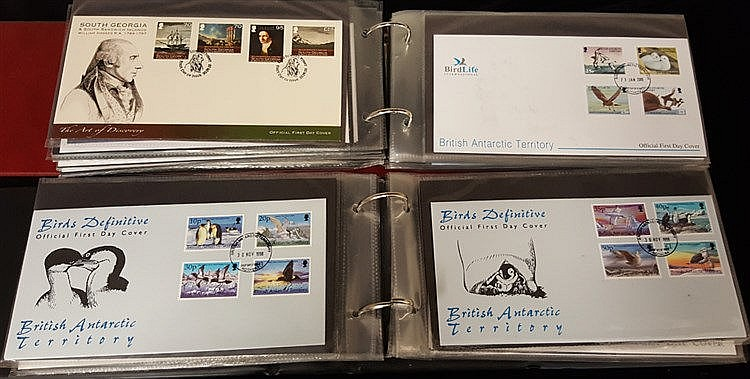 FALKLAND DEPENDENCIES & B.A.T 1969-2009 FDC collection in two alb