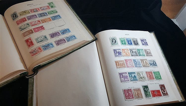 BRITISH COMMONWEALTH QEII 1952-62 collection of M & U housed in t