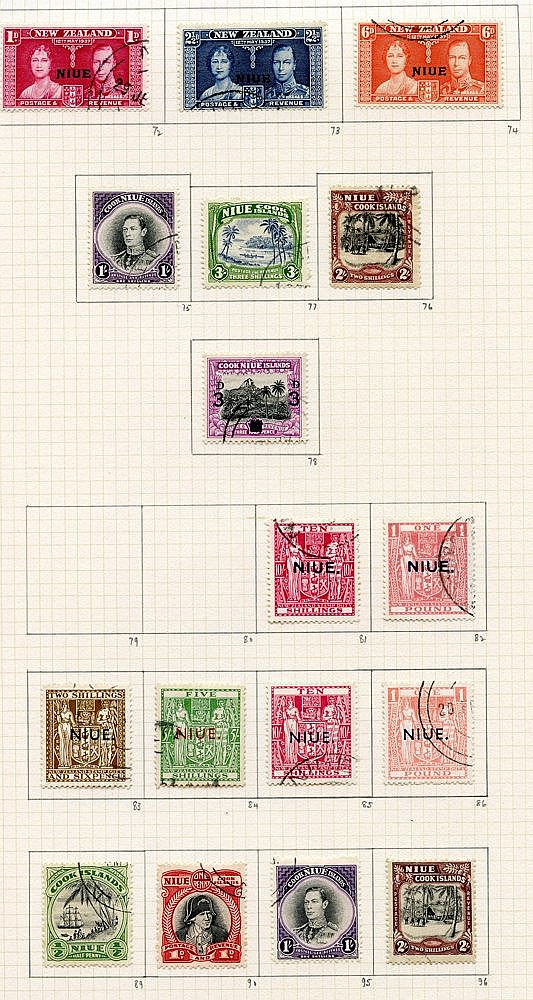 KGVI COLLECTION 1937-55 of Pacific & Indian Ocean Territories U o