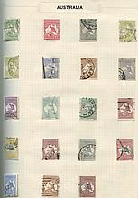 BRITISH EMPIRE collection housed in eight standard size spring ba