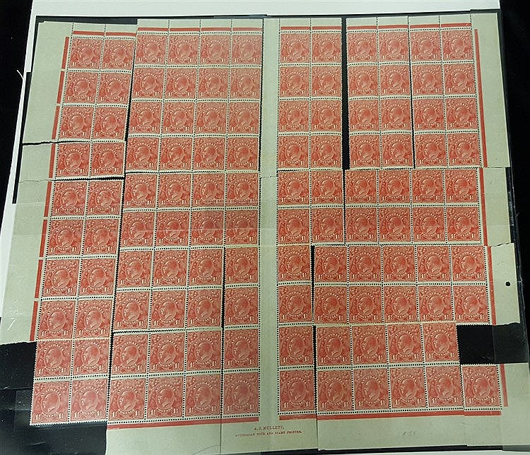 1926-30 small multiple wmk P.14 1½d red Pl.1a M reconstruction (l