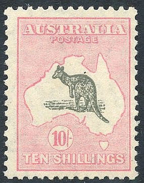 1929-30 10s grey & pink, fresh M, fine colour, SG.112. (1) Cat. £
