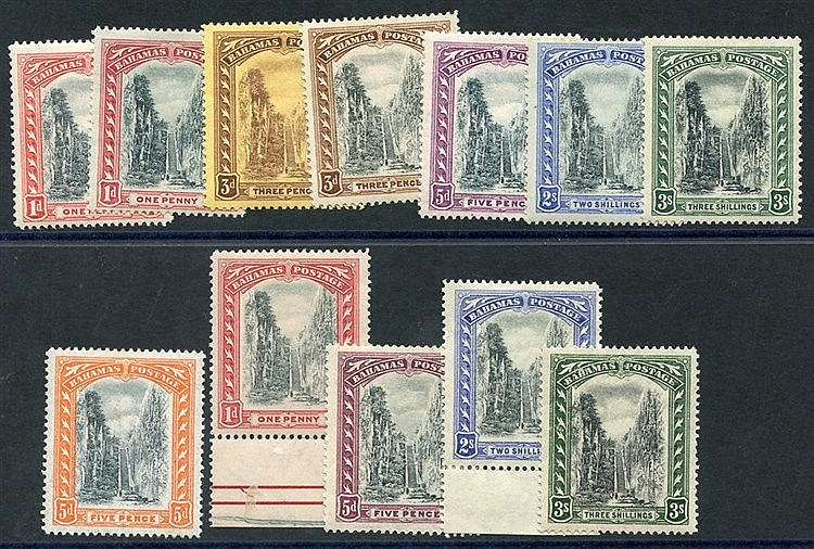 1901 CCC 5d Staircase M, SG.59, 1911-19 MCCA Staircase set + extr