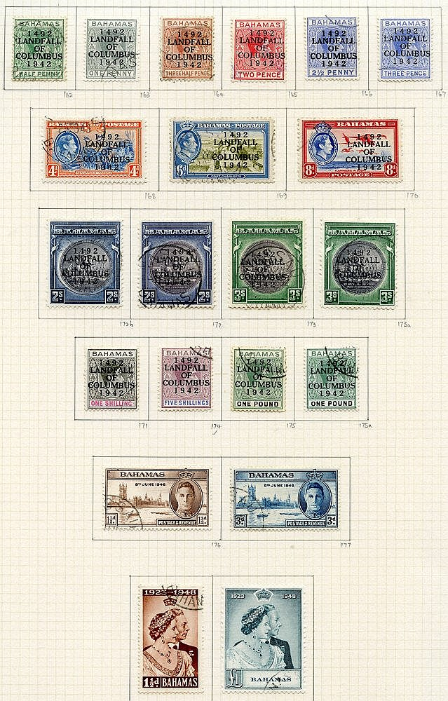 1937-52 collection U on philatelic leaves, basic stamps complete