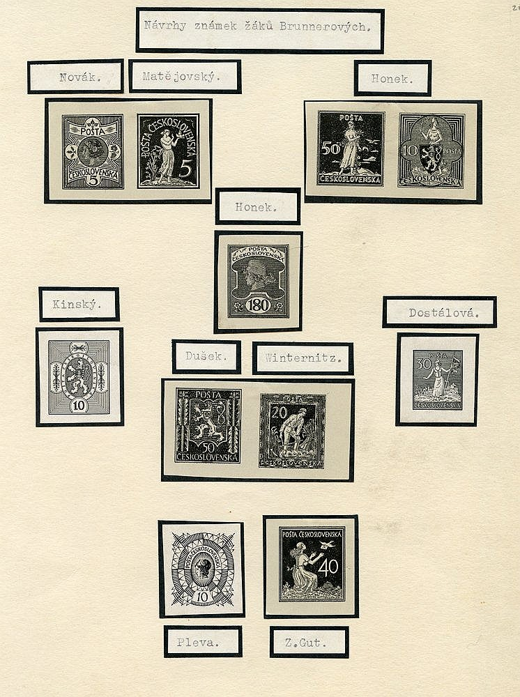 1920 proposed & unaccepted designs, selection of 160+ different,