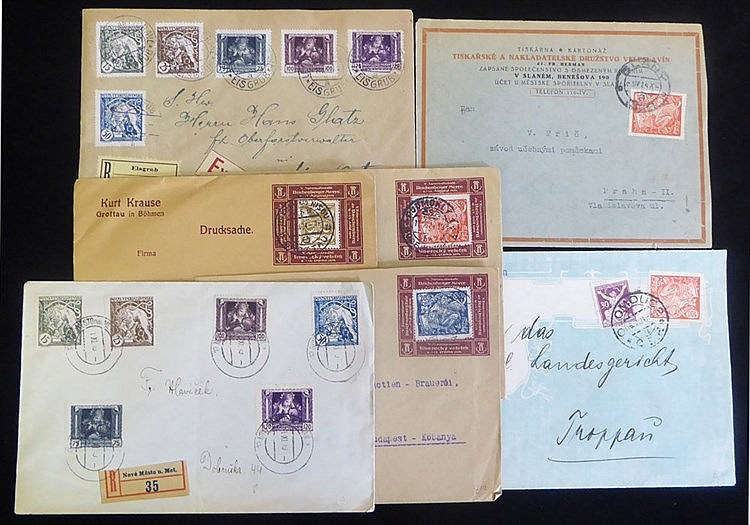 1920's covers with an interesting variety of frankings incl. regi