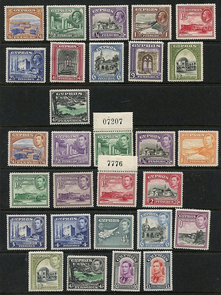1934 Pictorial Defin set M, SG.133/43, 1938-51 KGVI Defin set (ex