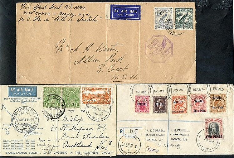 NEW ZEALAND & PACIFIC ISLANDS 19th/20thC assembly of covers (all