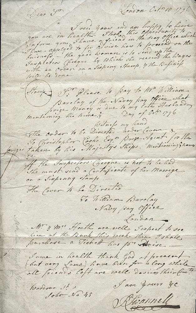 WEST INDIES ISLANDS to GB 1793-98 Maritime Trading famly EL's - m