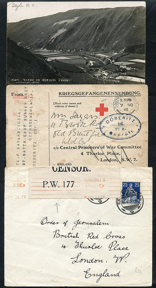 WWI - POW's in Germany covers & cards from Allied POW's incl. Bri