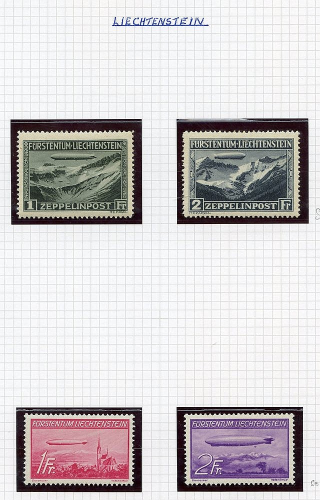 AIR STAMPS M or UM in a Prestige album, several better items incl