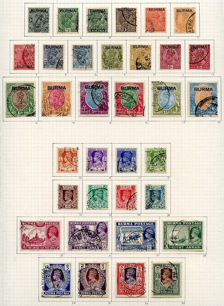 1937-47 complete basic issues incl. Officials on philatelic leave