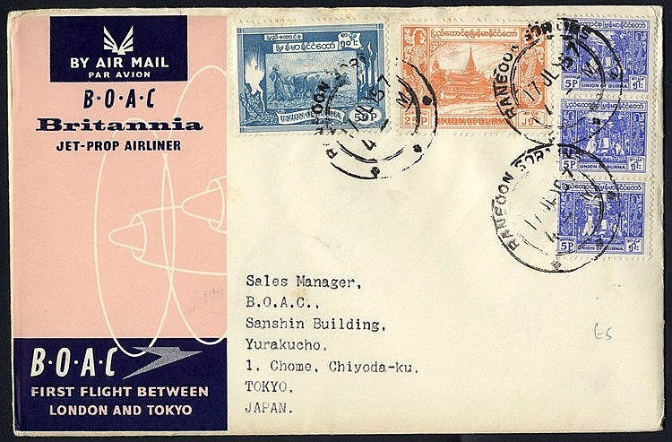 Post WWII cover miscellany incl. range of used air letters (c1959
