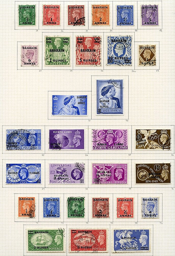 1938-51 collection U on philatelic leaves, complete basic stamps