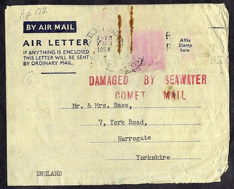 1954 BOAC Comet I crash off Elba, Kuala Lumpur - Harrogate air le