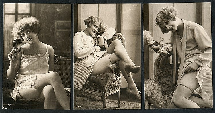 EROTICA collection of 336 different repro photographic cards in s