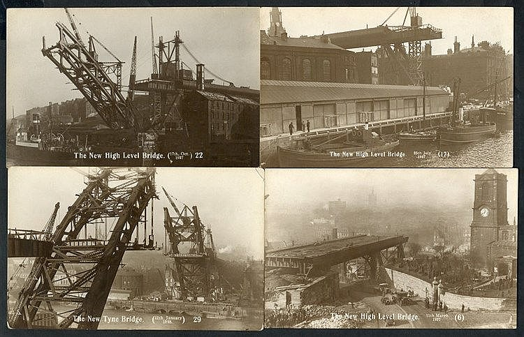 NEWCASTLE UPON TYNE 1927 Building of the Tyne Bridge, collection