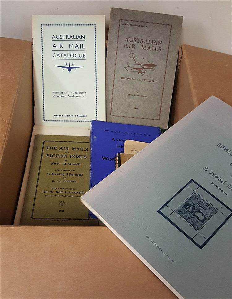 AIRMAILS selection of books & pamphlets relating to flights incl.
